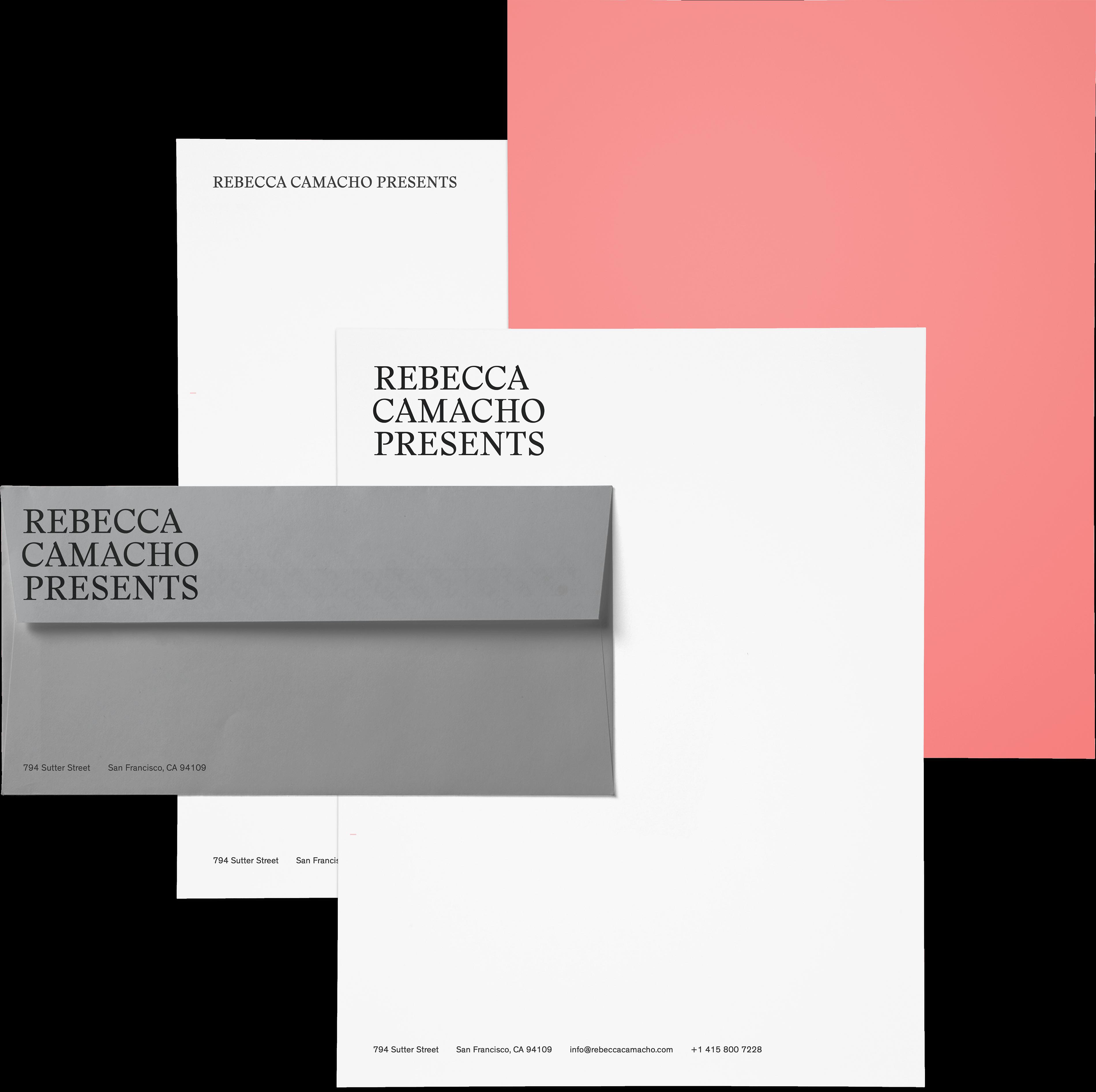 Rebecca Camacho Presents stationery