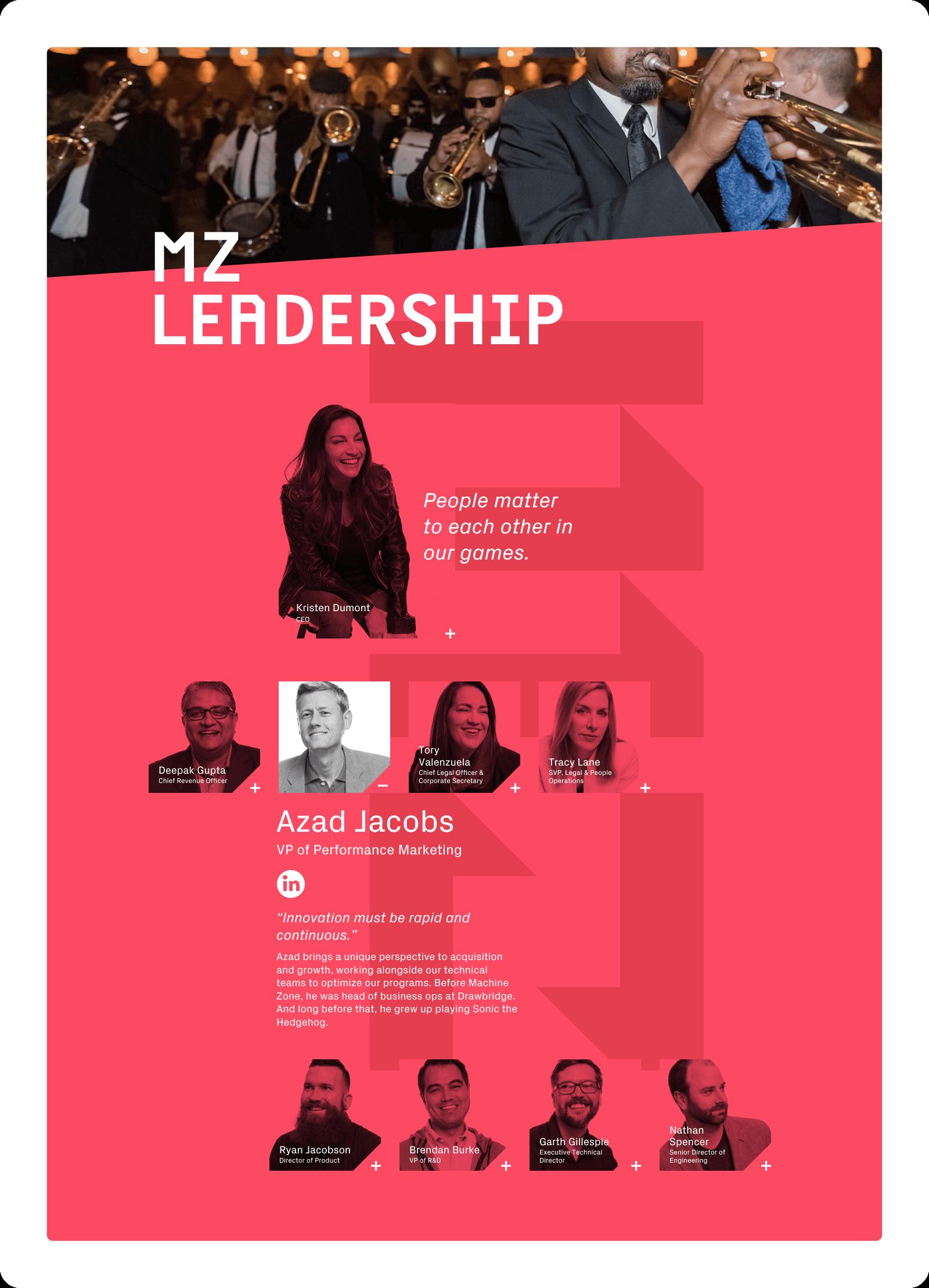 Machine Zone leadership