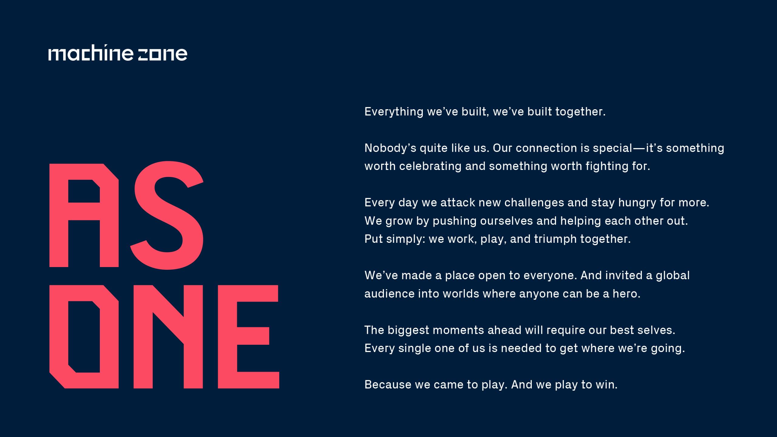 Machine Zone Manifesto