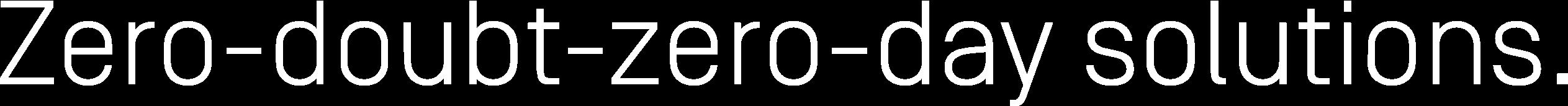 OPSWAT headline Zero-doubt-zero-day solutions.