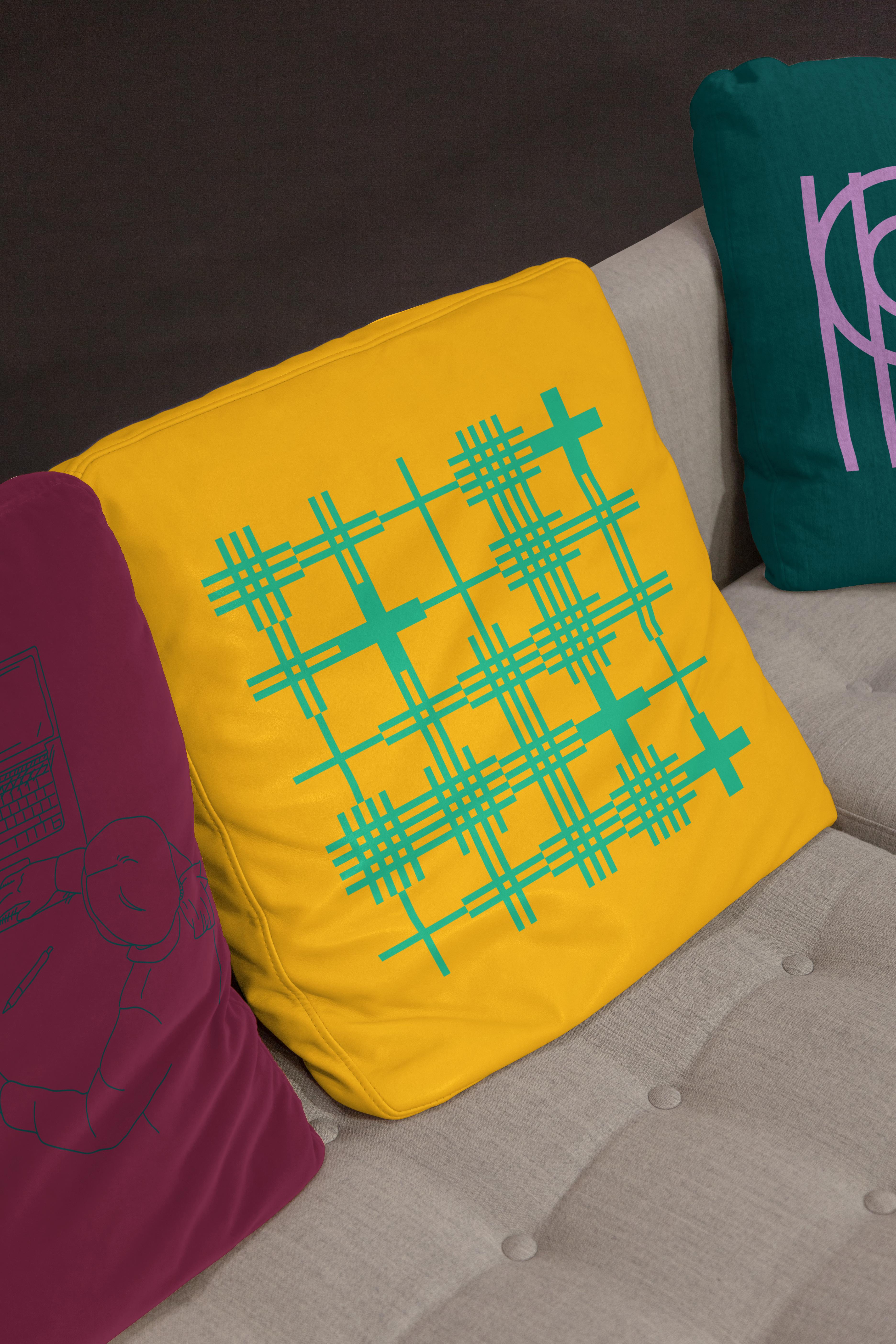 PlusPlus branded pillows